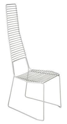 Mobilier - Chaises, fauteuils de salle à manger - Chaise Alieno / Métal - Casamania - Blanc - Métal verni