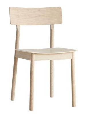 Mobilier - Chaises, fauteuils de salle à manger - Chaise Pause / Chêne - Woud - Chêne savonné - Chêne