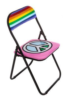 Chaise pliante Peace rembourrée Seletti multicolore,noir en matière plastique