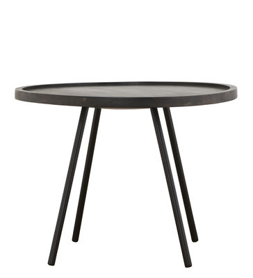 Furniture - Coffee Tables - Juco Coffee table - Ø 60 x H 45 cm by House Doctor - Black / Black legs - Painted iron, Tinted mango wood