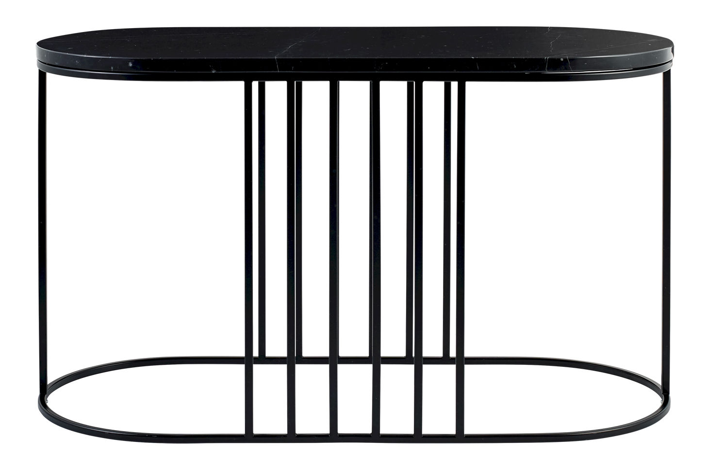 Furniture - Coffee Tables - Posea Coffee table - / Marble - L 80 x H 48 cm by Bolia - Black marble / Black base - Marble, Varnished steel