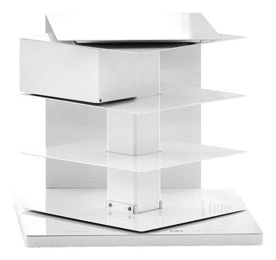 Möbel - Regale und Bücherregale - Ptolomeo Drehbares Bücherregal 4 Seiten - Opinion Ciatti - Weiß - lackierter Stahl