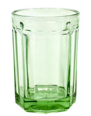 Tableware - Wine Glasses & Glassware - Fish & Fish Large Glass - 40 cl by Serax - Jadite green - Pressed glass