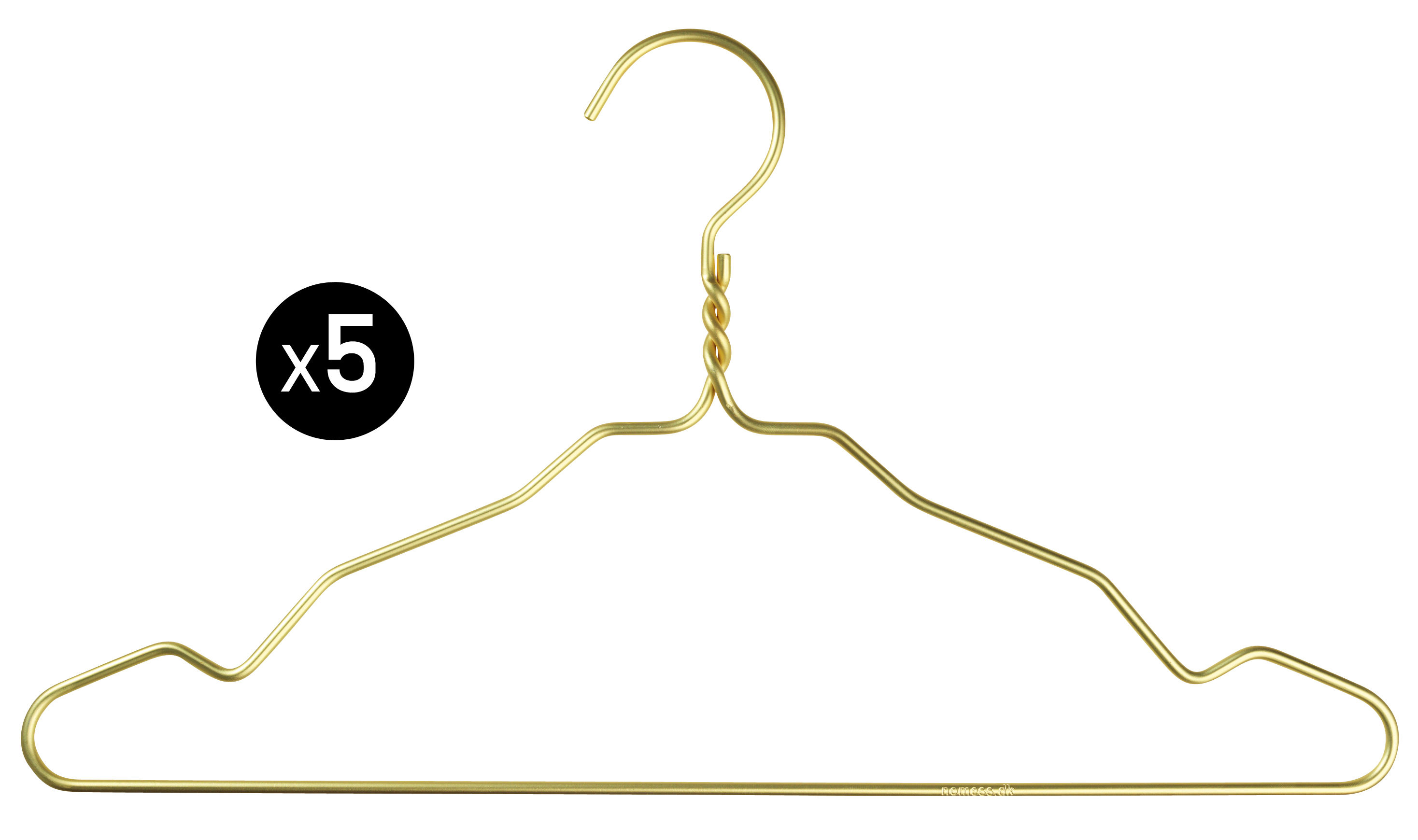 Decoration - Coat Stands & Hooks - W. Notch Hanger - / Set of 5 pieces by Nomess - Gold - Aluminium