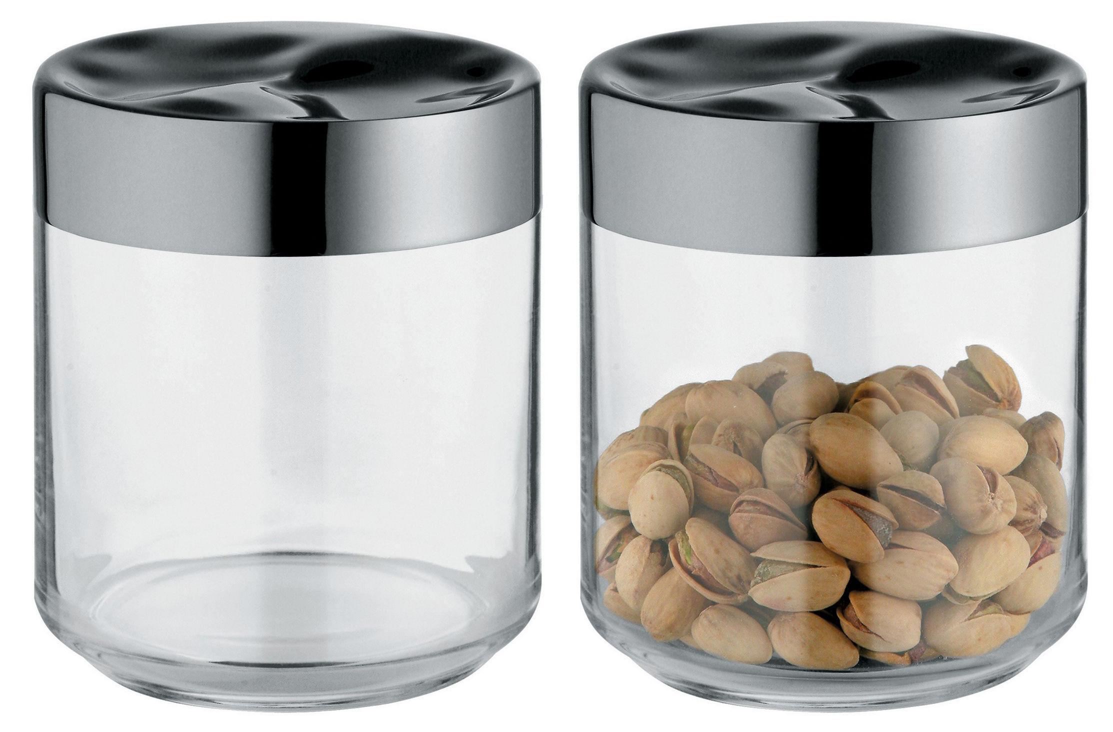 Accessoires - Accessoires für das Bad - Julieta hermetisch verschließbares Glas luftdicht - 75 cl - Alessi - 75 cl - Glas und Stahl - Glas, rostfreier Stahl