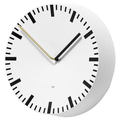 Horloge murale Analog / Ø 27 cm - Hay blanc en métal