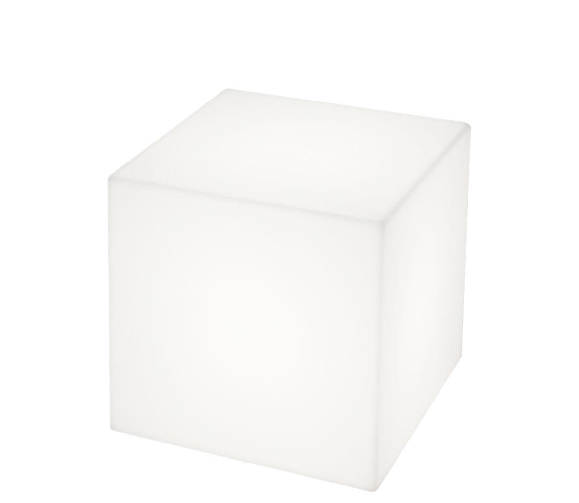 Illuminazione - Lampade da tavolo - Lampada senza fili Cubo LED RGB - 25 x 25 x 25 cm - Per l'esterno di Slide - Bianco / Esterno - 25 x 25 x 25 cm - Polietilene