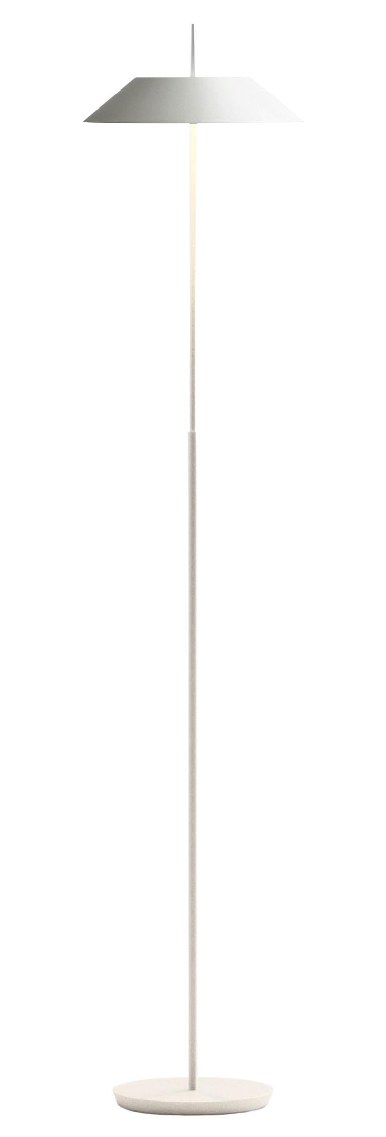 Luminaire - Lampadaires - Lampadaire Mayfair LED / H 147 cm - Vibia - Blanc mat - Acier, Polycarbonate, Zamak