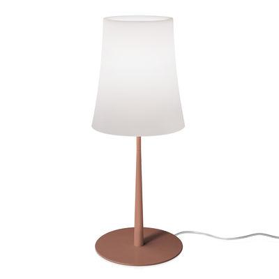 Luminaire - Lampes de table - Lampe de table Birdie Easy Large / H 62 cm - Foscarini - Rouge Brique - Aluminium laqué, Polycarbonate