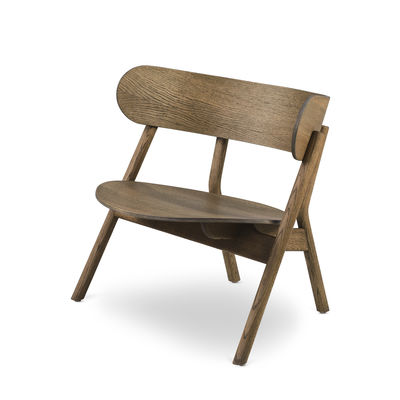 Furniture - Armchairs - Oaki Low armchair - / Oak by Northern  - Smoked oak - Smoked oak plywood, Smoked solid oak