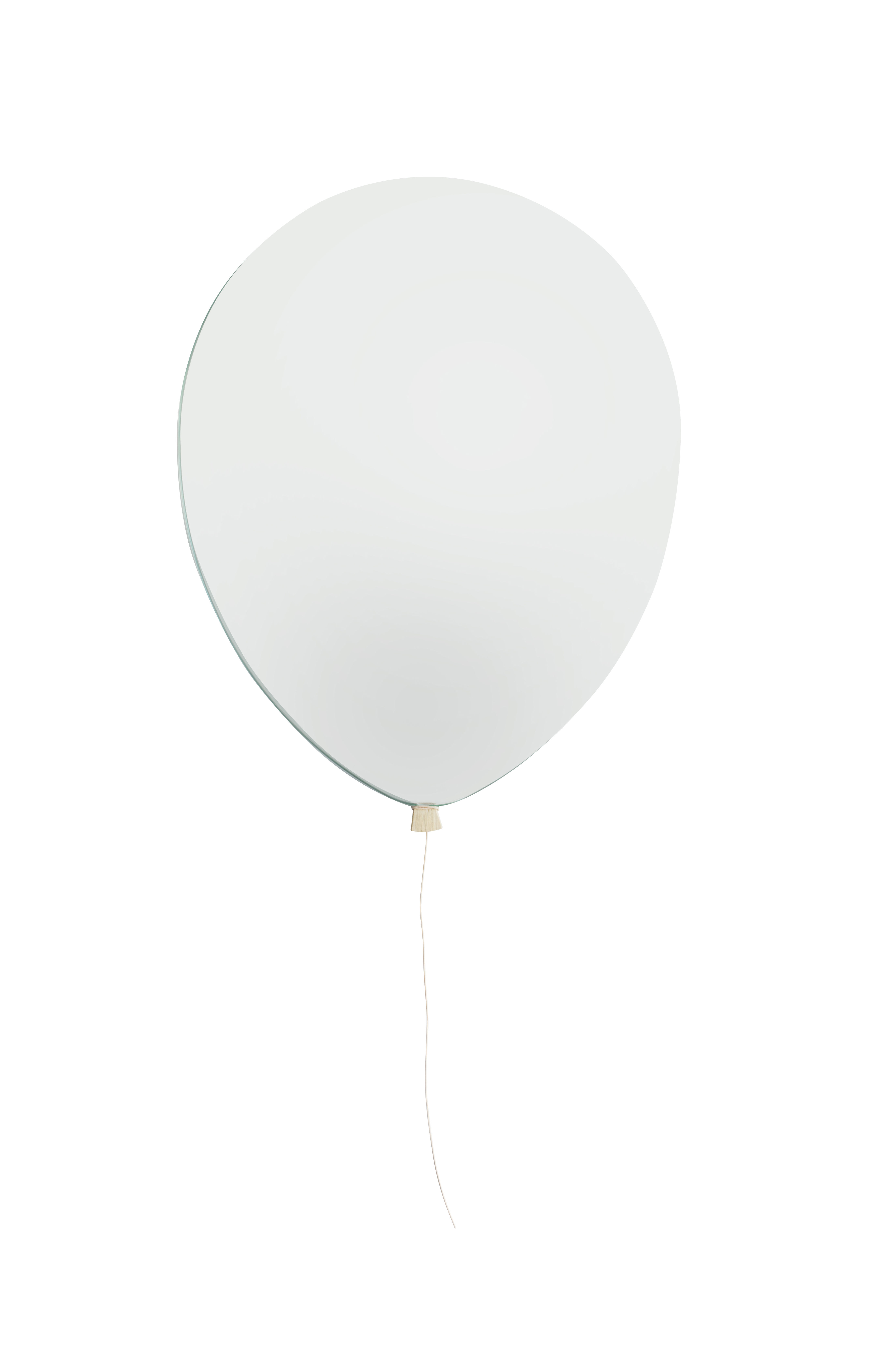Déco - Pour les enfants - Miroir mural Balloon Small / Larg. 28 x H 36 cm - EO - H 36 cm / Miroir - Chêne, Cuir, Miroir