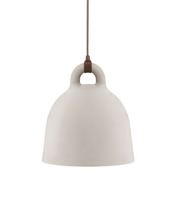 Lighting - Pendant Lighting - Bell Pendant - Extra small Ø 22 cm by Normann Copenhagen - Matt Sand & White inside - Aluminium