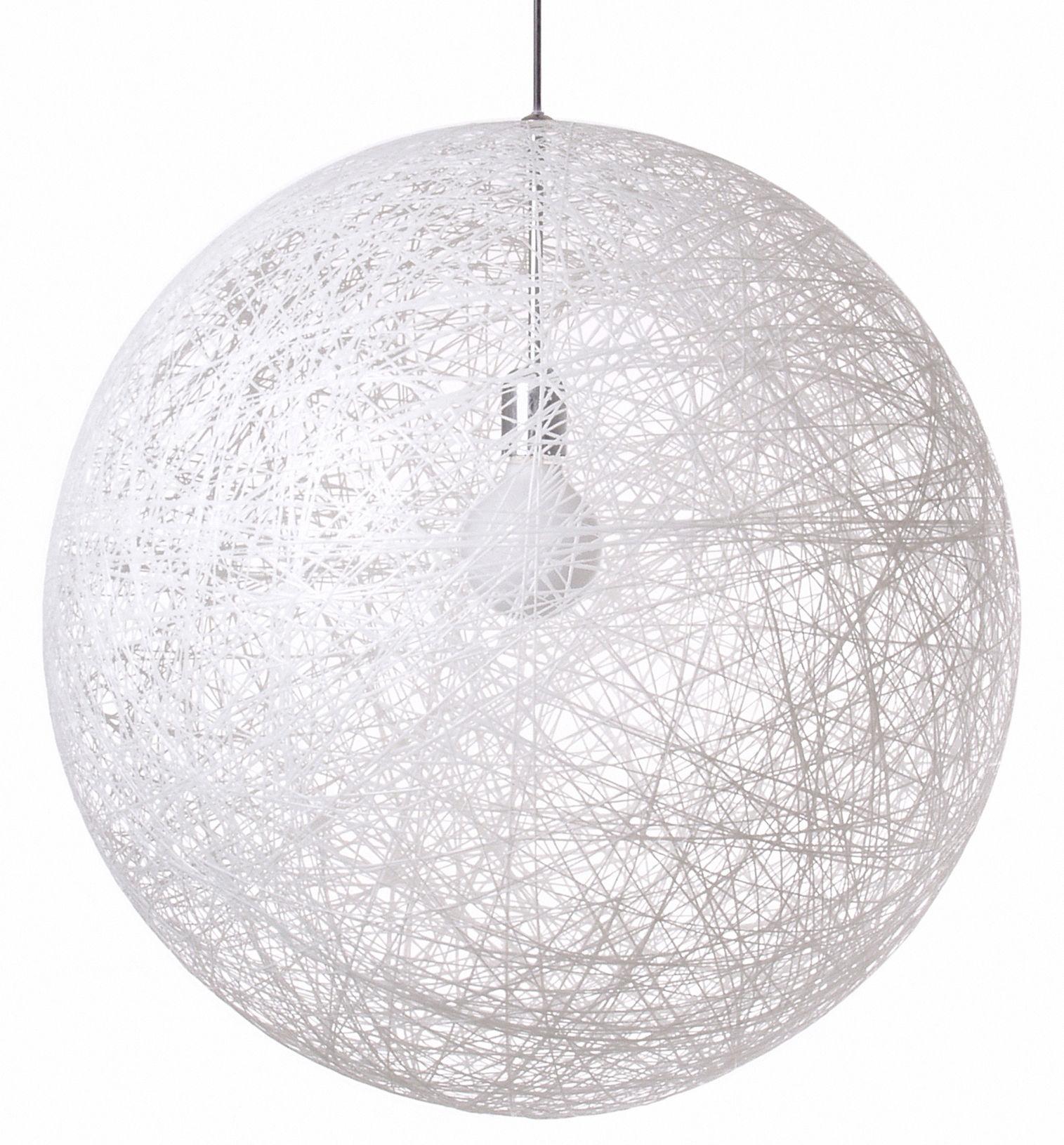 Lighting - Pendant Lighting - Random Light Pendant by Moooi - White - Fibreglass