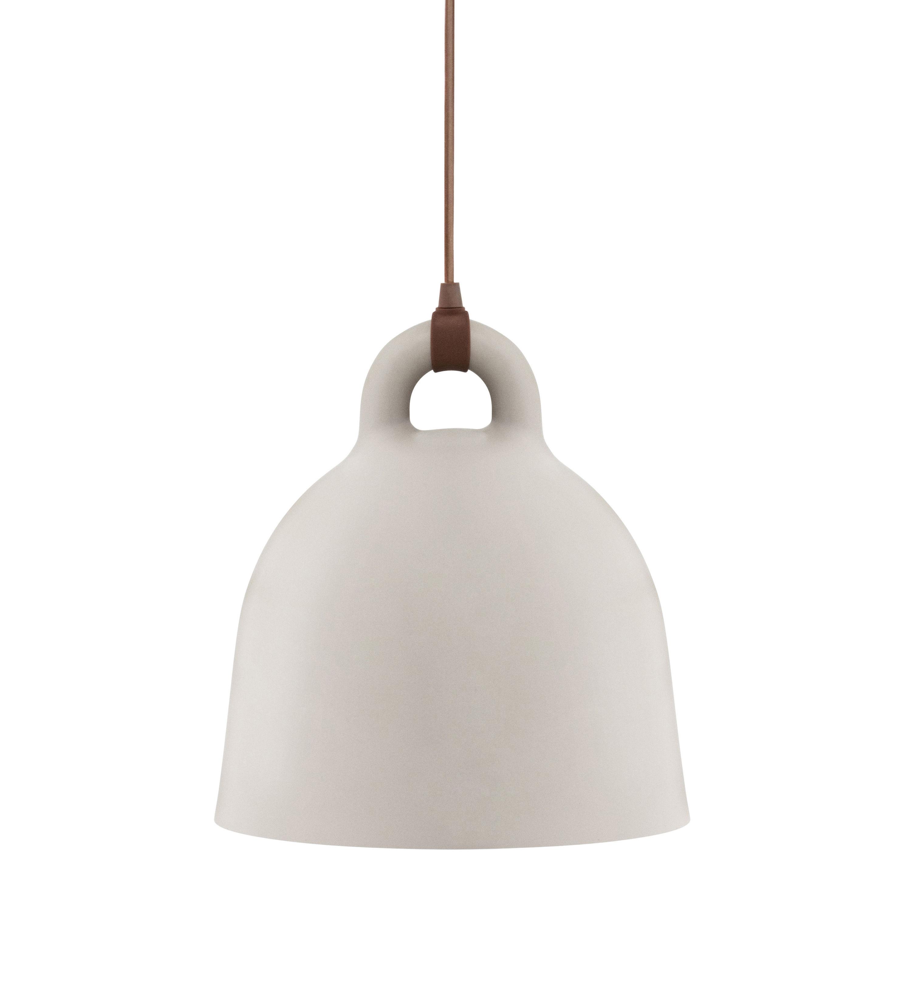Leuchten - Pendelleuchten - Bell Pendelleuchte / XS - Ø 22 cm - Normann Copenhagen - Sandfarben - Aluminium
