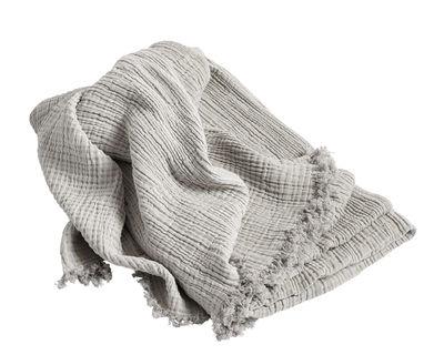 Plaid Crinkle / Coton - 210 x 150 cm - Hay argent en tissu