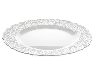 Plat de présentation Dressed Ø 33 - Alessi blanc en céramique