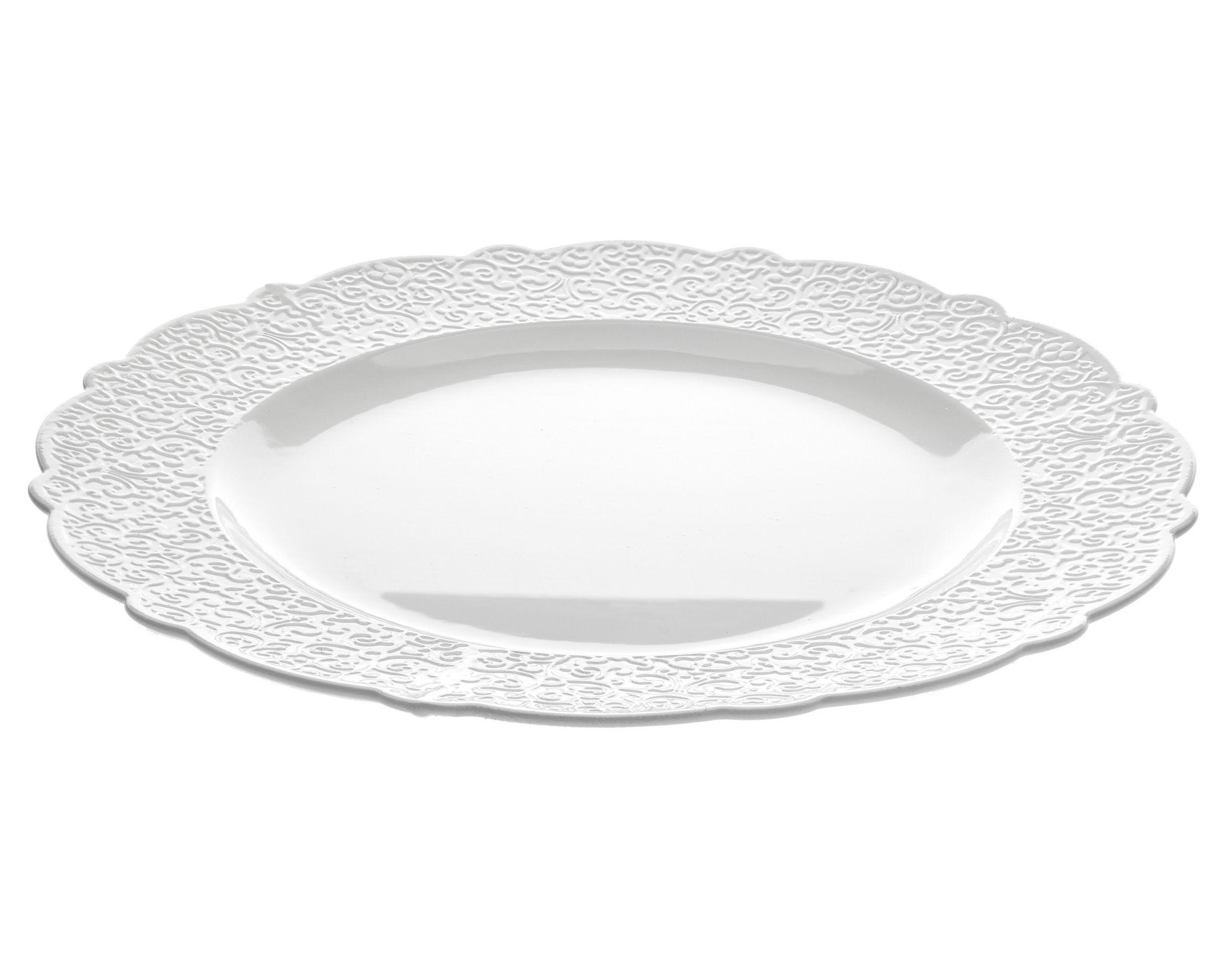 Arts de la table - Assiettes - Plat de présentation Dressed Ø 33 - Alessi - Plat de service Ø 33 - Blanc - Porcelaine