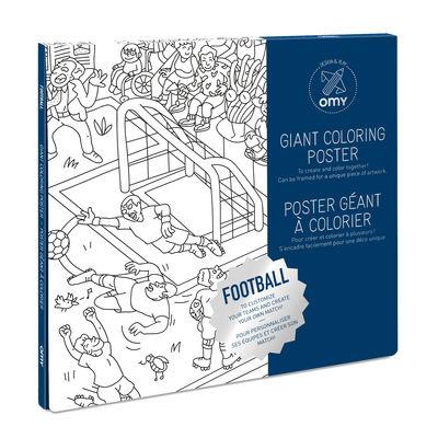Poster à colorier Football / 100 x 70 cm - OMY Design & Play blanc/noir en papier