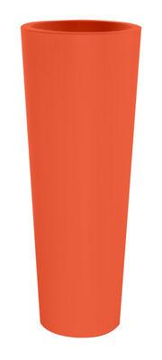Pot de fleurs New Pot High H 90 cm - Serralunga orange en matière plastique