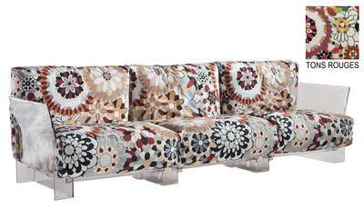 Pop Missoni Sofa 3-Sitzer - Kartell - Rot