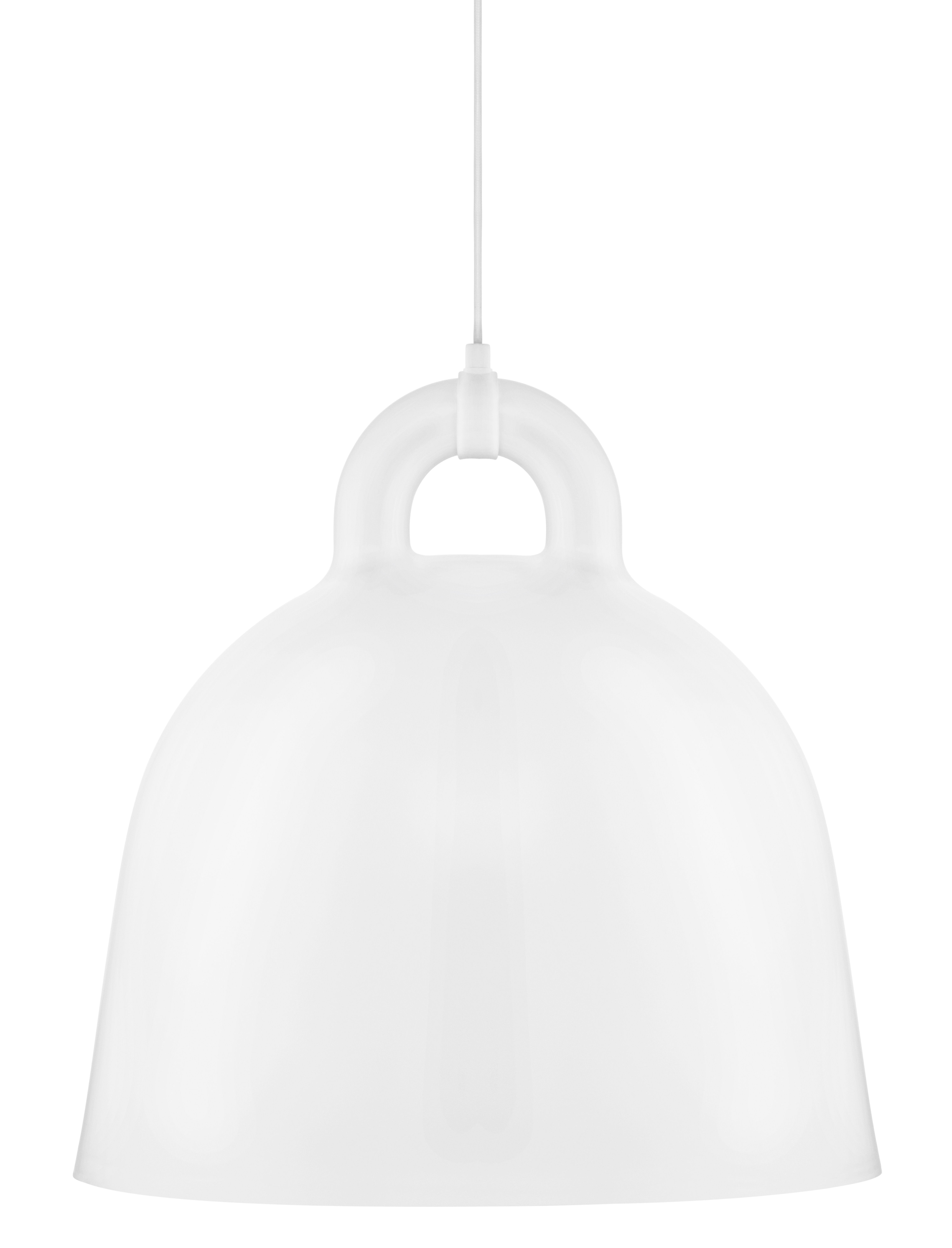 Illuminazione - Lampadari - Sospensione Bell / Large Ø 55 cm - Normann Copenhagen - Bianco opaco & Int. Bianco - Alluminio