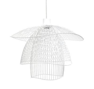 Sospensione Papillon Small - / Ø 56 cm di Forestier - Bianco - Metallo