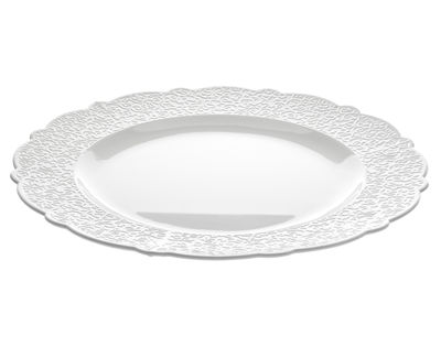 Tavola - Piatti  - Sottopiatto/vassoio Dressed - Ø 33 di Alessi - Piatto di portata Ø 33 - Bianco - Porcellana