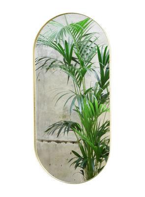 Interni - Specchi - Specchio murale Cruziana Ovale - / 55 x 25 cm di ENOstudio - Ottone - Acciaio, Vetro