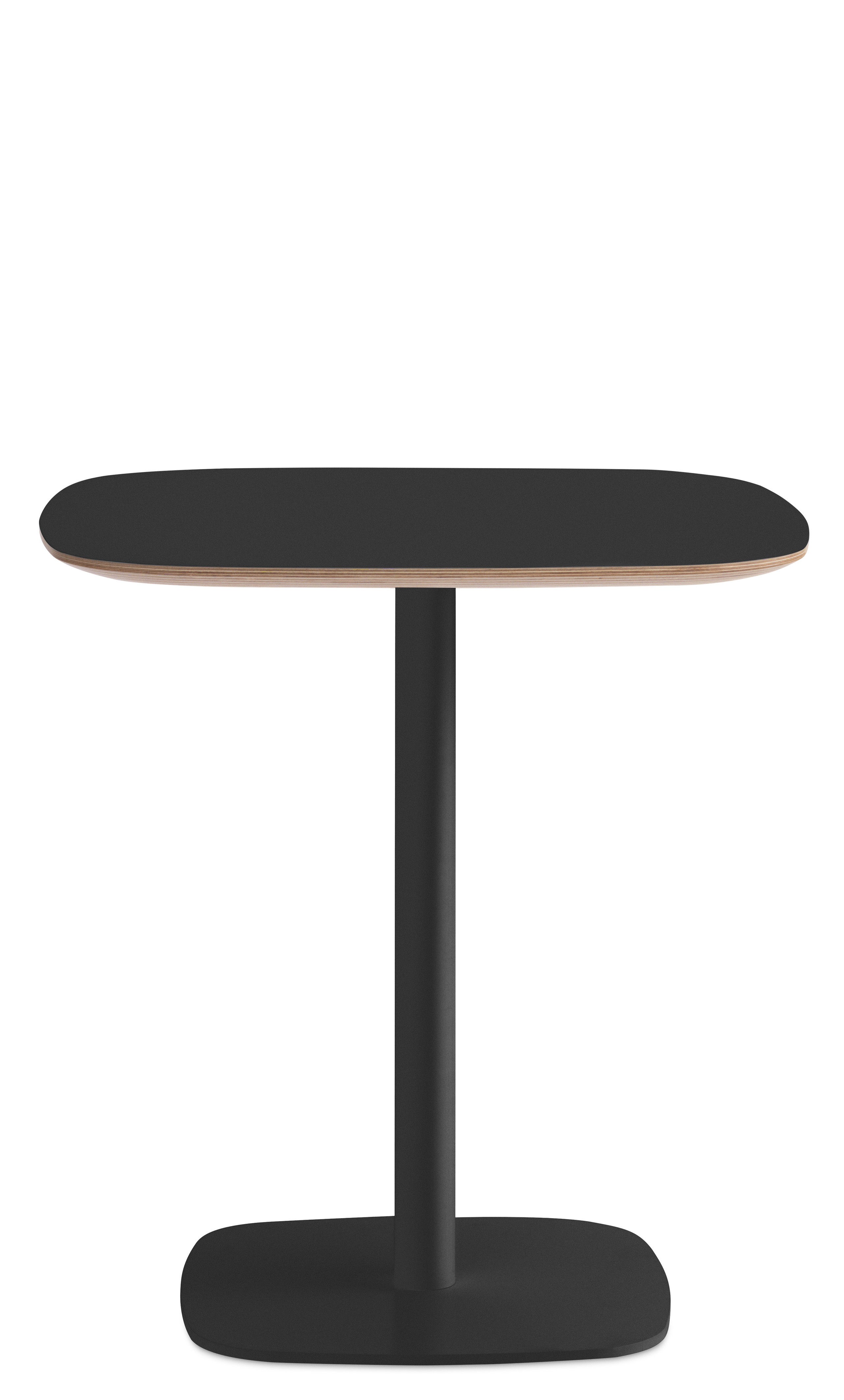Furniture - Dining Tables - Form Square table - 70 x 70 cm by Normann Copenhagen - Black - Lacquered oak, Lacquered steel, Linoleum coated oak