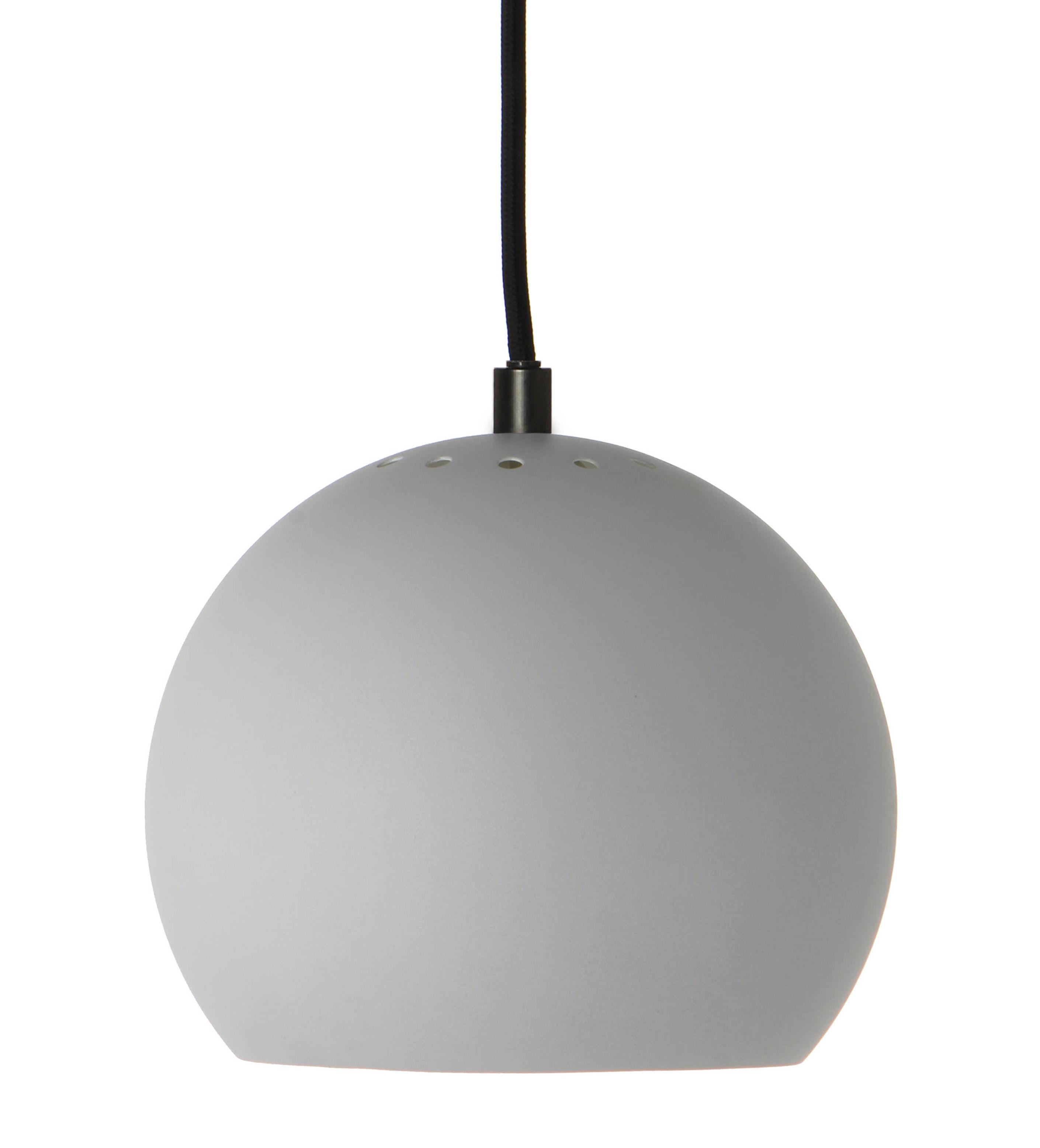 Luminaire - Suspensions - Suspension Ball Small / Ø 18 cm - Réédition 1968 - Frandsen - Gris clair mat - Métal verni
