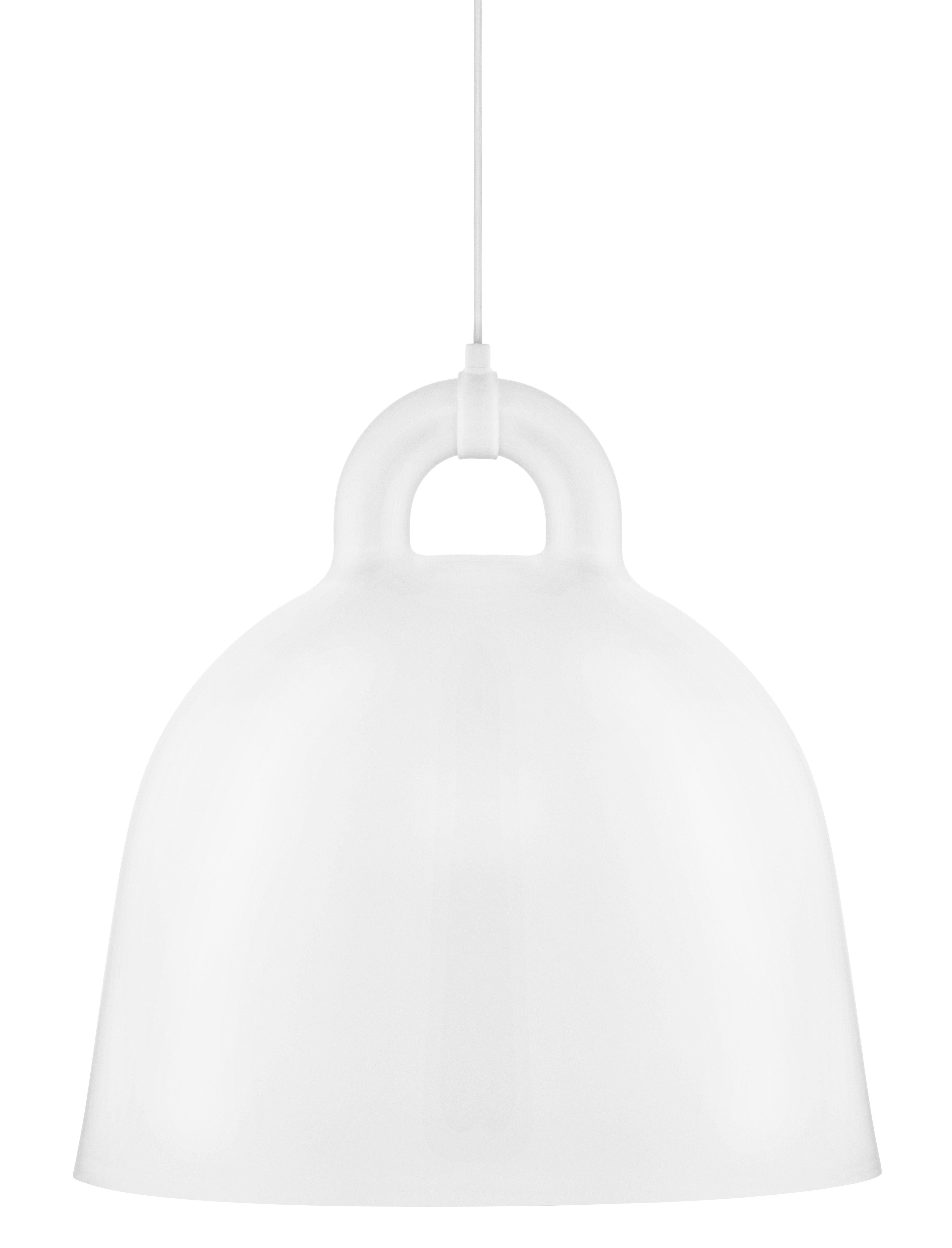 Luminaire - Suspensions - Suspension Bell / Large Ø 55 cm - Normann Copenhagen - Blanc mat & Int. Blanc - Aluminium