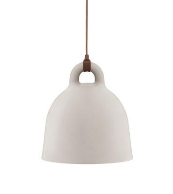 Luminaire - Suspensions - Suspension Bell / Extra small Ø 22 cm - Normann Copenhagen - Sable mat & Int. Blanc - Aluminium