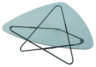 Table basse AA Butterfly structure noire - L 95 cm - AA-New Design noir/transparent en métal/verre