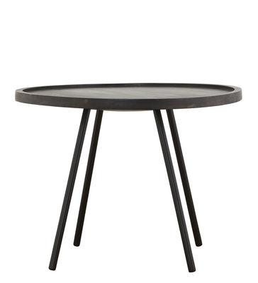 Table basse Juco / Ø 60 x H 45 cm - House Doctor noir en bois