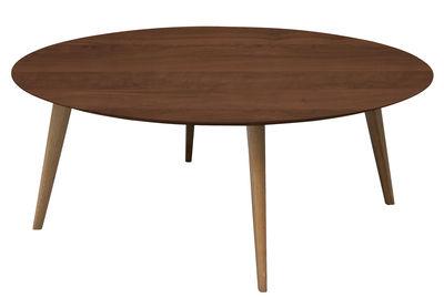 Table basse Lalinde Ronde / XXL - Ø 95 cm - Sentou Edition noyer en bois
