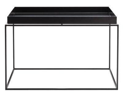 Mobilier - Tables basses - Table basse Tray H 35 cm / 60 x 60 cm - Carré - Hay - Noir - Acier laqué