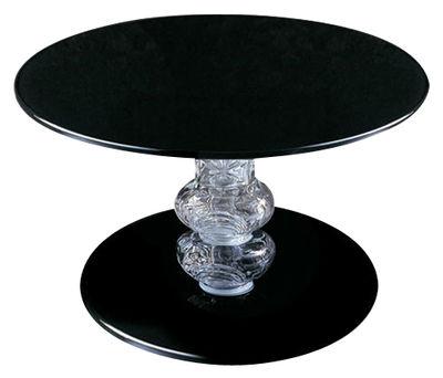 Table d'appoint Calice - Glas Italia noir en verre