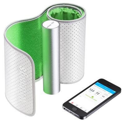 Déco - High Tech - Tensiomètre connecté pour iPhone - Nokia - Blanc / Vert - Aluminium, Textile