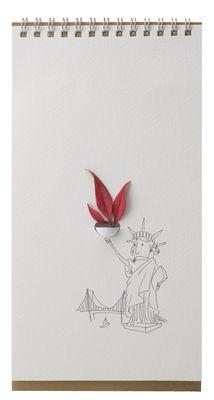 Vase Flip Humour / Papier - Pa Design blanc,marron,noir en papier