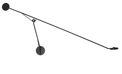 Lighting - Wall Lights - Aaro LED Wall light - / L 155 cm - Mobile arm by DCW éditions - Black - Anodized aluminium, Steel