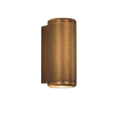 Lighting - Wall Lights - Jura Twin Wall light - / Direct & indirect lighting by Astro Lighting - Antique brass - Solid brass