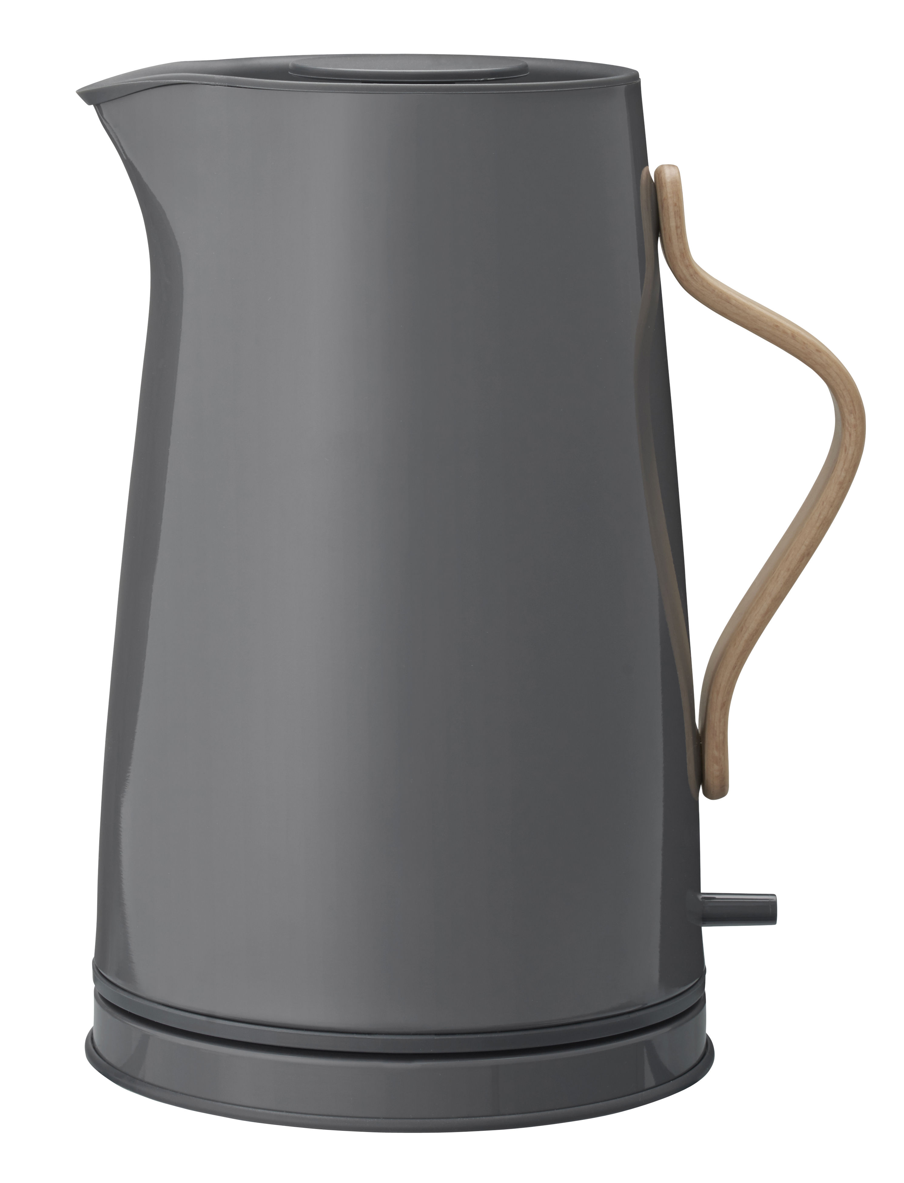 Küche - Teekannen und Wasserkessel - Emma Wasserkocher / 1,2 l - Stelton - Dunkelgrau & holzfarben - Buchenfurnier, rostfreier lackierter Stahl