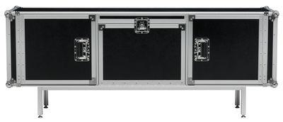 Möbel - Kommode und Anrichte - Total Flightcase Anrichte L 180 cm - Diesel with Moroso - Schwarz - Press-Spanplatte, verchromter Stahl