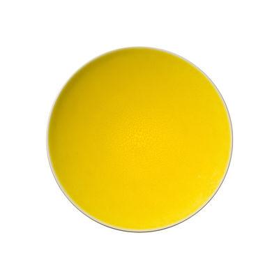 Arts de la table - Assiettes - Assiette Tourron / Ø 26 cm - Grès fait main - Jars Céramistes - Citron - Grès émaillé