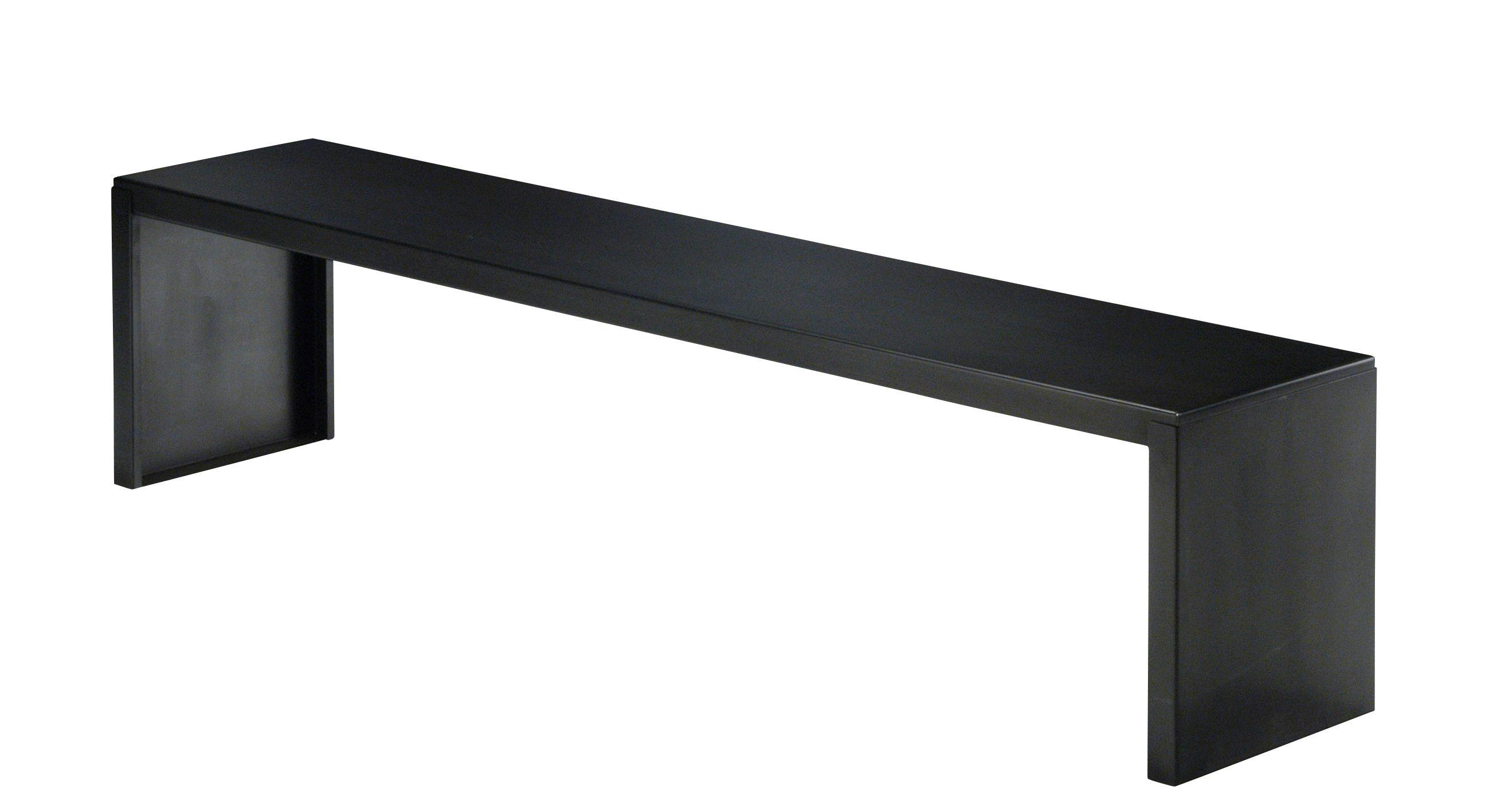 Mobilier - Bancs - Banc Big Irony / L 170 cm - Métal - Zeus - L 170 cm / Noir - Acier phosphaté