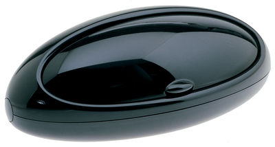 Kitchenware - Cool Kitchen Gadgets - Gnam Bread box by A di Alessi - Black - Thermoplastic resin