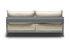 Canapé droit Cassette / L 207 cm - Tissu - Established & Sons