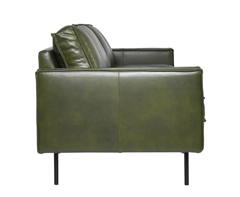 canap droit ppno 1 cuir 3 places l 233 cm cuir kaki pols potten made in design. Black Bedroom Furniture Sets. Home Design Ideas