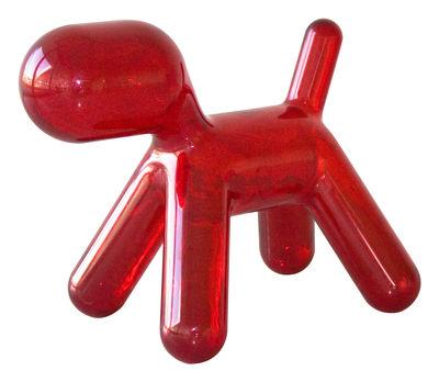 Chaise enfant Puppy Medium L 56 cm / Version transparente Rouge transparent - Magis Collection Me Too
