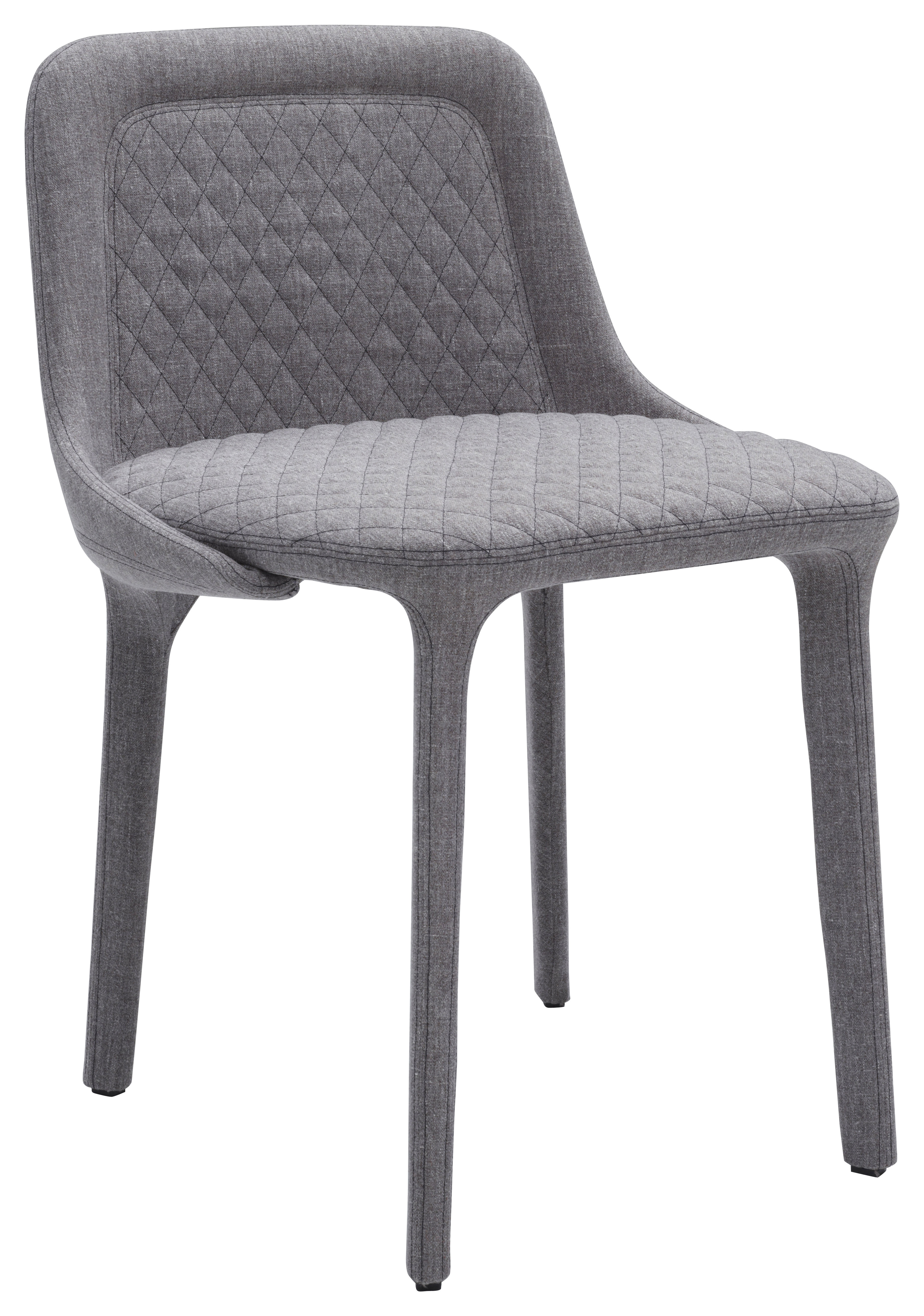 Chaise Rembourree Lepel Tissu Matelasse Willow Gris